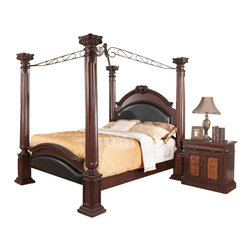 Coaster - Coaster Grand Prado 4 Piece Bedroom Set in Warm Cherry Finish - Coaster - Bedroom Sets - 202201XXPKG2 - Coaster Grand Prado Nightstand in Warm Cherry Finish (included quantity: 1) You'll be set with this night stand at your bedside. The piece carries a warm cherry brown finish and features pine solids as well as cherry veneers, a combination that evokes a sense of sophistication. In addition, the intricate carvings add just the right amount of thoughtful detail. Plus, the drawer and two doors are great for keeping books, magazines, pens and alarm clocks. With a wealth of elegance, this bachelor's chest is sure to please.