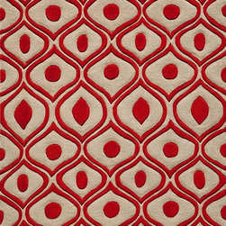 "Momeni - Momeni Bliss BS-09 (Red) 5' x 7'6"" Rug - Bliss is a collection of bold transitional and soft contemporary patterns in earthen tones, hand-tufted from the softest blend of polyester. It features hand-carving for added depth and texture."