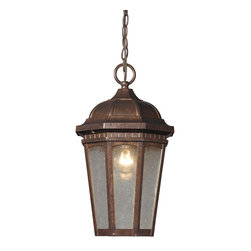 Elk Lighting - Elk Lighting 47032/1 Fullerton 1 Light Outdoor Pendant in Hazelnut Bronze - 1 Light Outdoor Pendant in Hazelnut Bronze belongs to Fullerton Collection by Elk Lighting This Classic Series Offers Versatility To Adorn A Variety Of Outdoor Entrances.  A Hexagonal Design Displays The Beautiful Details That Abound. Seedy Glass And A Hazelnut Bronze Finish Add To The Timeless Design Elements. Contructed Of Durable, Long Lasting Cast Aluminum.   Pendant (1)