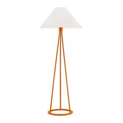 Sonneman Lighting - Sonneman Lighting 6231.68 Tetra Floor Lamp In Gloss Orange - Sonneman Lighting 6231.68 Tetra Floor Lamp In Gloss Orange