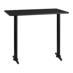 Flash Furniture - Flash Furniture 24 Inch x 42 Inch Rectangular Bar Table w/ Black or Mahogany Rev - Complete your restaurant, break room or cafeteria with this reversible table top. The reversible laminate top features two different laminate finishes. This table top is designed for commercial use so you will be assured it will withstand the daily rigors in the hospitality industry. [XU-MBT-2442-GG]