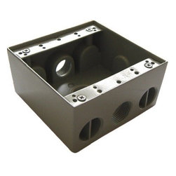 "Westgate - Westgate Two Gang Box, 3 x 1/2"" Hubs - Two gang boxes, 2-3/16"" Deep"