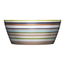 Iittala - Iittala Origo Dessert Bowl 8.5 oz - Brown - The Origo dinnerware collection features bold, modern color combinations allowing for unlimited combinability of the cups, bowls, and plates. Mix and match to suit your design whimsy. As durable as it is attractive, iittala's Origo dinnerware stands the test of everyday use over a long time. Designed by: Alfredo Haberli, 1999 Includes one brown dessert bowl Porcelain Dishwasher safe. Freezer safe Microwave safe. Oven safe 8.5 oz. capacity