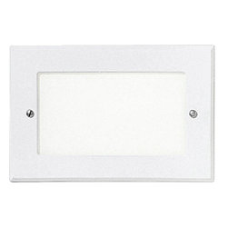 Progress Lighting - Progress Lighting P6826-30 Step Light 1 Light Deck/Step Lighting in White - Spring-held white louver faceplate. Metal housing has 1/2in I.P. conduit entry. For indoor and protected outdoor use. Standard 120V NPF ballast with a shatter-resistant white acrylic faceplate.