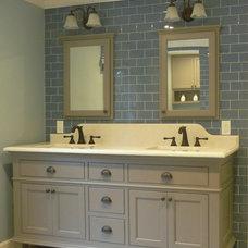 Craftsman Bathroom by Denyne Designs