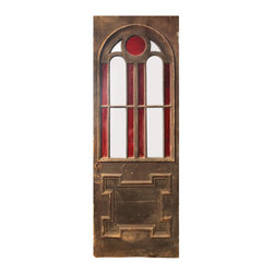 Antique Doors - Incredible antique door with its original red flash glass, salvaged from a home in Kentucky built in the 1880's.
