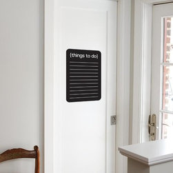 """Office Decor - Everyone needs a """"To do list"""" and this UL design comes in chalk wall or dry erase! We offer over 55 chalk wall/dry erase designs. To order: http://jeand.uppercaseliving.net/ViewItem.m?CategoryId=329&DesignId=&ItemId=62423&Keyword=To+do+list&CurrentPage=1"""