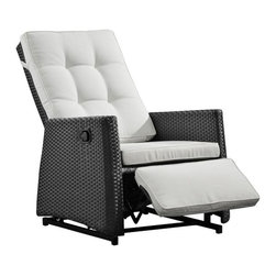 "Zuo - Zuo Daytona Espresso Rocking Chair - The Daytona espresso rocking chair is designed to make your outdoor space more comfortable. The look is modern with an aluminum frame wrapped in synthetic weave that has been UV treated to help prevent fading and cracking. Gliding rockers ensure easy comfort while the plush white cushions are water-resistant for even more protections from the elements. Design by Zuo Modern. UV treated synthetic weave. Aluminum frame construction. Water-resitant cushions. Gliding rockers. 41"" high. 18"" wide. 65"" deep. Seat is 20"" deep. Arms are 24"" from the floor.  Gliding rocker.  UV treated synthetic weave.  Aluminum frame construction.  Water-resistant cushion.  Cushion included.  41"" high.  18"" wide.  65"" deep.  Seat is 20"" deep.  Arms are 24"" from the floor."