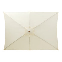 Cream Patio Rectangular Umbrella