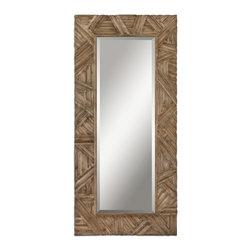 Uttermost - Uttermost 07623 Tehama Light Walnut Mirror - Uttermost 07623 Tehama Light Walnut Mirror