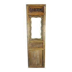 EuroLux Home - Consigned Antique Chinese Window Shutter Geometric - Product Details
