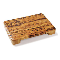 Proteak - Proteak Teak End-Grain Cutting Board - with Bowl Cutout - Teak is a strong, water-resistant wood. It makes a tough cutting board. This model features a cutout where a bowl can be placed for easy ingredient transfer.