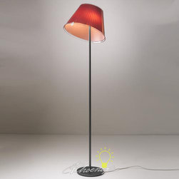 Choose Floor Lamp - Floor standing luminaire with adjustable diffuser for direct and diffused incandescent or fluorescent lighting.