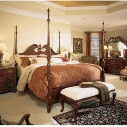 Cherry Grove Poster Bed - The Cherry Grove Poster Bed looks like it has always been a part of your family and from now on it will be. Georgian Edwardian Sheraton and Queen Anne influences are evident in this traditional poster bed which features dramatic lines and decorative carvings for Old World charm. Crafted from cherry veneers alder solids and select hardwoods this poster bed features a rich cherry finish for a warm and inviting ambiance. The headboard contains a split pediment design while four ornate fluted posts complement the luxurious look.Queen: 65L x 4W x 88H inchesKing/California King: 79L x 4W x 88H inchesAbout Lea IndustriesLea Industries is a leading manufacturer of youth furniture. The Elation Collection is a perfect example of the craftsmanship and style Lea is dedicated to preserving. Featuring clean lines and subtle design elements Lea is a fashionable option for girls and boys alike. Each piece is crafted from fine hardwoods veneers wood products and simulated wood to ensure both durability and quality furniture that will stand up to the wear and tear of youth use.