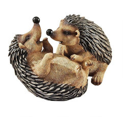 """EttansPalace - 5.5"""" American Wildlife Hedgehogs Home Garden Statue Sculpture Figurine - S/2 - Our energetic hedgehogs with their funny black noses and individually sculpted quills are cast in quality designer resin and hand painted in natural hues, one piece at a time. Tuck this Design Animal figurine into a manicured flower bed or near a favorite indoor potted plant for endless smiles! XB!"""