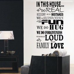 ColorfulHall Co., LTD - Family Wall Decals In This House We Do Real Quotes Love Rule - Family Wall Decals In This House We Do Real Quotes Love Rule