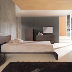 Exclusive Quality High End Bedroom Furniture - Innovative design solid wood modern cosmo bedroom set. This price is given for Queen Size Bedgroup, which includes - Bed itself, Dresser + Mirror and 2 nightstands.