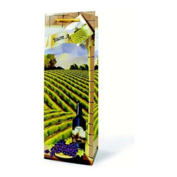 Franmara - Green Vineyard Buon Appetito Themed Paper Wine Bottle Gift Bag - This gorgeous Green Vineyard Buon Appetito Themed Paper Wine Bottle Gift Bag has the finest details and highest quality you will find anywhere! Green Vineyard Buon Appetito Themed Paper Wine Bottle Gift Bag is truly remarkable.