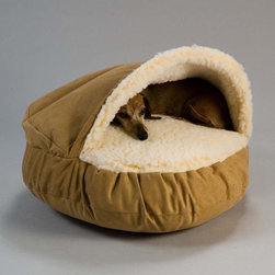 The Snoozer Luxury Cozy Cave Pet Bed - This looks so cozy and warm. I wouldn't mind if my bed looked a bit like this too!
