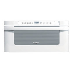 """Sharp - KB-6525PW 30"""" Built-in Microwave Drawer with 1.2 cu. ft. Capacity  1000 Cooking - The KB6525P 30 built-in microwave drawer comes with a capacity of 12 cu ft The easy to read angled controls and digital LCD display makes using this microwave extremely convenient and easy"""