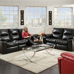 Recline Designs - Enterprise 3 Picese Dual Reclining & Massage Sofa w/Drop-Down - Set Includes  Dual Reclining & Massage Sofa, Dual Reclining Loveseat and Power Gadget Recliner