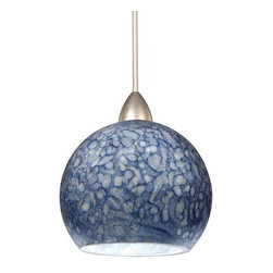 WAC Lighting - WAC Lighting MP-LED599  1 Light Down Lighting Quick Connect LED Pendant from the - WAC Lighting MP-LED599 Art Deco / Retro 1 Light Down Lighting Quick Connect LED Pendant from the Rhea CollectionHand blown cased glass, textured and mottled with various size and color frits, the blue and umber Rhea incorporate lightly saturated hues and subtle texturesSpecifications: