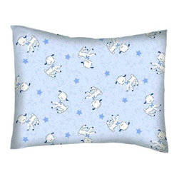 SheetWorld - SheetWorld Crib / Toddler Percale Baby Pillow Case - Baby Lambs - Made in USA - Baby or Toddler pillow case. Made of an all cotton percale fabric. Opening is in the back center and is envelope style for a secure closure.