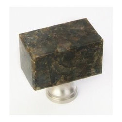 Q.M.I. - Square Knob in Uba Tuba (Set of 10) - Includes mounting screws. Decorative. Easy to install. Limited lifetime warranty. Made from granite. 1.38 in. W x 0.75 in. D x 1.38 in. HAdd the finishing touches to your new vanity or cabinets or instantly update the look of your room with this hardware. Our cabinet knobs beautifully compliment any homes decor.