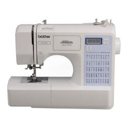 Brother Sewing - Computerized Sewing Machine 50 - Brother CS-5055PRW Computerized Sewing Machine Project Runway - 50 built-in utility decorative and heirloom stitches each with multiple stitch functions. Sew fleece elastic and other stretchy fabrics with the built-in stretch stitches. One-step bobbin replacement with quick set drop-in bobbin. Embellish or join quilt blocks with the built-in quilting stitches.