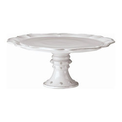 "Juliska - Juliska Berry and Thread Large Cake Stand Whitewash - Juliska Berry and Thread Lg. Cake Stand Whitewash.Put your homemade sweets on a pedestal, where they belong. Both rustic and refined, it is just as lovely for your casual cupcakes or as a table centerpiece crowned with your most triumphant confections. Dimensions: 16"" W x 7"" H"