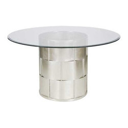 "Worlds Away - Worlds Away Amanda Dining Table In Silver Leaf, 48"" - Features:"