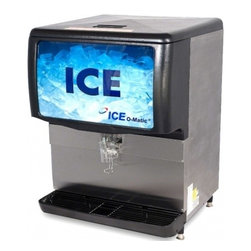 Ice-O-Matic - IOD250 Ice Only or Water/Ice Dispenser with 250 lbs. of Ice Storage Capacity  Wo - The Ice-O-Matic ice dispenser ensures that ICE hits the glass every time while it stores up to 250 lbs of ICE Ice O-matic ice dispensers promises greater dispensability their auto rotate turns the ICE for 4 seconds every hour to consistently provide ...