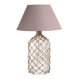 Zodax - Zodax Costa Brava Bottle Net Lamp - Zodax - Table Lamps - IN5362 - Costa Brava Bottle Net Lamp