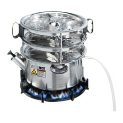 "WATERWISE INC. - Waterwise 1600 Non-Electric Distiller, 12""H x 12""D - Waterwise 1600 Non-Electric Distiller is designed for use with alternative heat sources, such as gas burners or grills, wood or coal burning stoves and electric stove or hotplates. Water is heated in the stainless steel boiler to 212  degree F (100  degree C) killing microbes such as bacteria, cysts and viruses that may be present. It is useful for emergency situations such as power outages and natural disasters and as a back up for electric distillers."