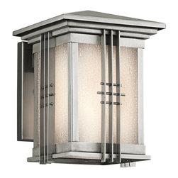 Kichler - Kichler Portman Square Outdoor Wall Mount Light Fixture in Steel - Shown in picture: Outdoor Wall Mt 1-Light in Stainless Steel