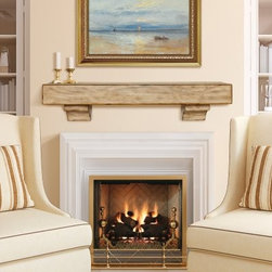 Pearl Mantels Tuscany Distressed Mantel Shelf - The Pearl Mantels Tuscany Distressed Mantel Shelfis the perfect way to enhance the look of any fireplace. This mantle shelf is made of select woods and given a distressed Tuscany finish for a rustic touch. It can also be used just about anywhere you want to add a place to display your decorative treasures. Easy to install it can be mounted with or without corbels. Dimensions: 48 in. option measures: (With Corbels)-48L x 9W x 10.5H in. ; (Without Corbels)-48L x 9W x 5H in. 60 in. option measures: (With Corbels)-60L x 9W x 10.5H in. ; (Without Corbels)-60L x 9W x 5H in. 72 in. option measures: (With Corbels)-72L x 9W x 10.5H in. ; (Without Corbels)-72L x 9W x 5H in. About Pearl Mantels Inc. Pearl Mantels Inc. believes in business based on honest value quality products and personal service - even contacting clients directly to evaluate their needs and develop leading-edge solutions. Pearl also believes mantels are the emotional core of rooms representing heritage and tradition and displaying precious heirlooms. Each Pearl mantel boasts exclusive detail and classic design all at an affordable price. Plus a variety of finish options ensures Pearl Mantels Inc. indeed has a mantel for every hearth. Wood and MDF are combustible. Please review heat clearance specifications before installation. Consult your local building codes and manufacturer information regarding your specific insert or stove.