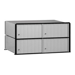 Salsbury Industries - Salsbury Aluminum Mailbox 4-door Rack Ladder System - Designed for installation between rack ladders and featuring thick powder-coated aluminum doors,this Salsbury Mailbox is perfect for private access to your sensitive documents.
