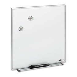 Quartet - Quartet 16 x 16 in. Magnetic Dry Erase Board Multicolor - QRTM1616 - Shop for Dry Erase Boards from Hayneedle.com! Communicate efficiently in workspace by using the Quartet 16 x 16 in. Magnetic Dry Erase Board. The magnetic board works as a dry erase board and as a bulletin board. Its aluminum frame adds style and durability to this erase board. You can hang the board vertically or horizontally to suit your requirement. For added convenience it comes with mounting hardware for installation to cubicle walls. A dry erase marker magnets and an attachable marker tray are comes with the board.About United StationersDedicated to making life in the office more organized efficient and easier United Stationers offers a wide variety of storage and organizational solutions for any business setting. With premium products specifically designed with the modern office in mind we're certain you will find the solution you are looking for.From rolling file carts to stationary wall files every product in the United Stations line is designed with one simple goal: to improve office efficiency. In turn you will find increased productivity happier more organized employees and an office setting that simply runs better with the ultimate goal of increasing bottom line profits.