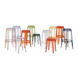 Kartell Charles Ghost Stool - These stools come in three different sizes and tons of colors so the applications are limitless. I love the idea of using a short one as a side table in one color and then mixing and matching other colors at the bar.