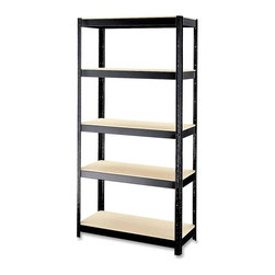 Hirsh - Hirsh Boltless Shelves - 36 x 16 x 72 - Particleboard, Steel - 5 x Shelf(ves) - Shelving holds up to 900 lb. Of evenly distributed weight on particleboard shelves. Boltless design assembles quickly with only a rubber mallet. Shelving can be set up vertically or horizontally to fit most any space. Steel contains a high percentage of recycled material and has a rust-resistant baked enamel finish.