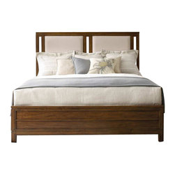Hooker Furniture - Hooker Furniture Chatham Upholstered Panel Bed-King - Hooker Furniture - Beds - 104391866 - Horizontal lines and molding and straight cases give a modern yet down-to-earth feel to Chatham. Upholstered panels can be removed so they can be reupholstered.
