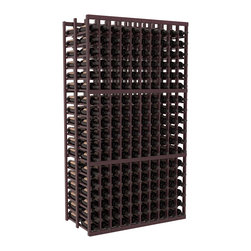 Wine Racks America - 10 Column Double Deep Cellar in Redwood, Burgundy + Satin Finish - Get the most storage with this 10 column Double Deep wine rack. Holds 36 bottles per column for a total of 360 bottles in one rack. Ideal for restaurants, bars or private collectors because our racks outlast the competition. That's guaranteed. We know you'll love this rack. That's guaranteed, too.