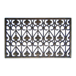 A1 Home Collections - Rubber Grill Elegant Doormat - This stylish doormat makes a perfect addition to any porch,patio area or door. Use this mat to catch dirt or as decoration.