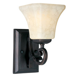 Maxim Lighting - Maxim Lighting 21063FLRB Oak Harbor 1-Light Wall Sconce - Maxim Lighting 21063FLRB Oak Harbor 1-Light Wall Sconce