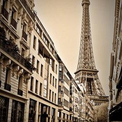 Eiffel Tower Sepia, Fine Art Photography Print, 12X18 - Eiffel Tower Sepia