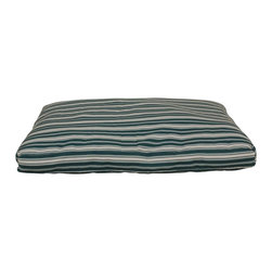 "Carolina Pet Company - Indoor/Outdoor Striped ""Jamison"", Green, 27"" X 36"" X 4"" - Great for decks, patio's or dog houses.  These 100% polyester beds can handle all your outdoor activities.  Indoor or out, these beds are great for older incontinent pets too.  Hose down to clean, the water runs right through or machine wash.  UV protected to keep color from fading."
