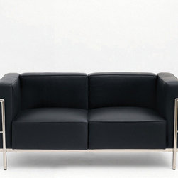Madrid Loveseat Black Sofa - This sofa by Nuevo is part of their Madrid collection and comes in a black finish.