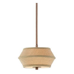 Dolan Designs Lighting - Two-Light Mini-Pendant with Light Brown Shade - 1042-206 - Contemporary / modern classic bronze 2-light mini-pendant light. This mini-pendant comes with one six-inch and three 12-inch stem segments which allow adjustability in height between 15-1/4-inch to a maximum of 51-1/4-inches. The ceiling canopy measures 6-1/2-inches in diameter. Takes (2) 60-watt incandescent A19 bulb(s). Bulb(s) sold separately. UL listed. Dry location rated.