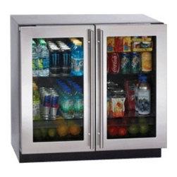 "U-Line - 3036RRGLS-13 36"" 7.1 cu. ft. Capacity Glass Door Refrigerator With Dual-Zone Con - 3036RRGLS-13 36 71 cu ft Capacity Glass Door Refrigerator With Dual Zone Convection Cooling System Front Adjustable Rear Leveling Legs  In Stainless Steel"