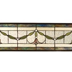 Meyda Tiffany Floral Nouveau Garland Swag Stained Glass